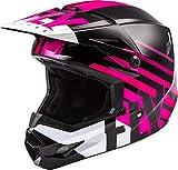 FLY Racing Kinetic Thrive Helmet, Full-Face Helmet for Motocross, Off-Road, ATV, UTV, Bicycle and More (Pink/Black/White, Medium)