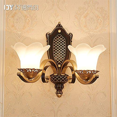 DengWu Wandbeleuchtung Continental retro Wandleuchten Studie Schlafzimmer Doppelbett Wohnzimmer Korridore luxus Wand amerikanische Einrichtung Lampen