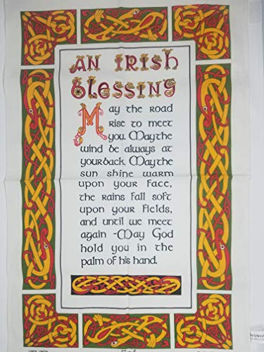 New Irish Blessing Linen Union Tea Towel by McCaw Allan