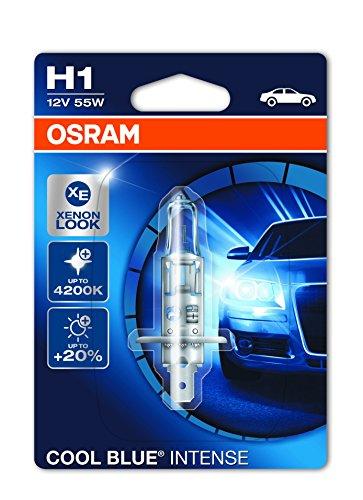 OSRAM COOL BLUE INTENSE H1, lampada alogena per proiettori auto, 64150CBI-01B, 12V PKW, blister singolo (1 pezzo)