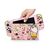 ZOOMHITSKINS Sweet Cute Kawaii Cup Cake Desserts Ice Cream Chocolate, High Quality 3M Vinyl Decal Sticker Wrap, Nintendo Switch Compatible, Made in the USA