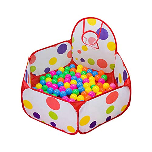 LIUFS Ocean Ball Pool Fence Indoor Household Children Bobo Pool Toys Toddler Foldable Children's Colored Ball Pit Plastic