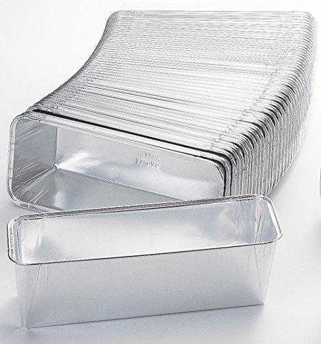 50 x Antihaft - Aluschalen/Leberkäseschalen/Bratenschalen 23,2 cm x 10,8 cm x 6 cm | 1090 ml (0,35 € / Stück)