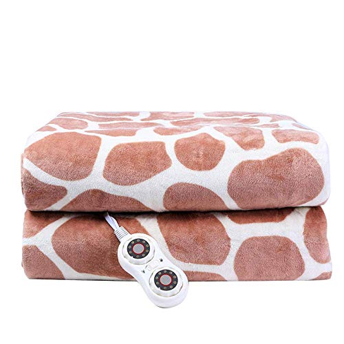 NIHAOA Flannel Electric Blankets, Electric Tweezers, Temperature Control, Single/Double Dual Control, Student Dorm.