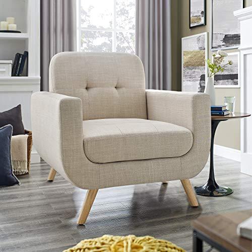 Millbury Home Elena Modern Fabric Contemporaty Armchair Singer Sofa for Living Room Furniture, Cream