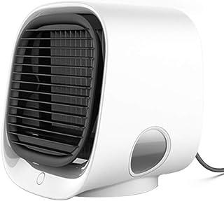 TANWERN Enfriador de Aire, Aires acondicionados portátiles, humidificador y purificador, 3 velocidades de Viento, 7 Luces LED Ajustables