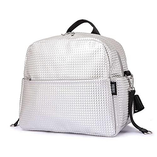 N\C liupan112 - Bolsas de pañales para maternidad para mamá, de gran capacidad, para mujeres, para el cuidado del bebé, elegantes y al aire libre, color plateado