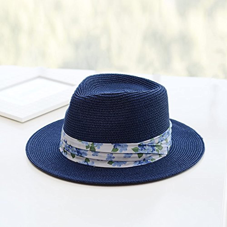 YMFIE Ladies Summer Wide Casual Fashionable Outdoor Sunscreen Beach Hat Sunshade Hat Straw Hat Hat.