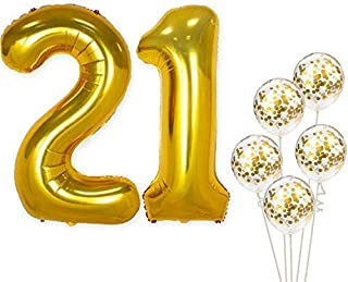 Best 21 birthday balloons gold Reviews