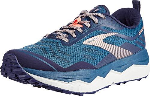 Brooks Caldera 4, Zapatillas para Correr Mujer, Blue/Peacoat/Desert Flower, 36 EU