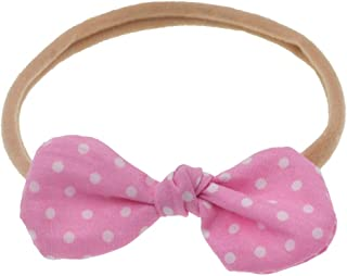 Iusun Children's Fabric Floral Bow Soft Nylon Headband Elastic Head Wrap Hairband Wash Face Hoop Simple Sweet Girls Hairpin Accessory Hair Care Decoration