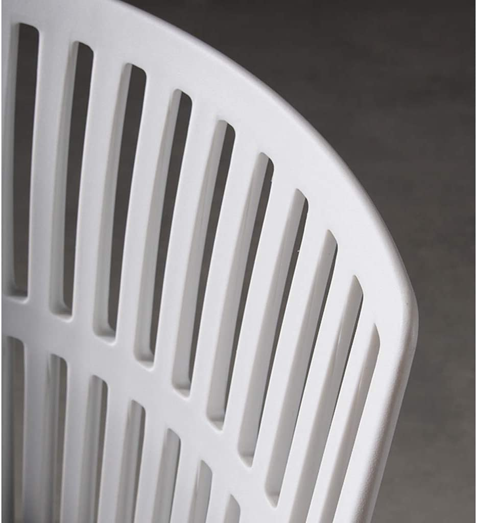 LF Chaise de Salle, Chaise de Bureau Simple, créative Dossier, Chaise Loisirs, Maison Adulte Chaise de Salle Simple (Color : White) White