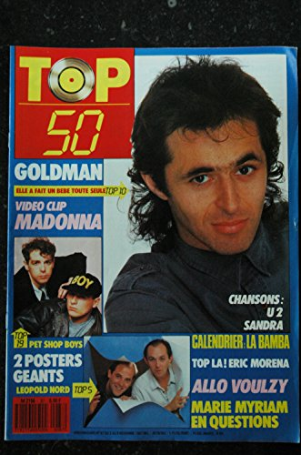 TOP 50 087 N° 87 GOLDMAN MADONNA PET SHOP BOYS LEOPOLD NORD VOULZY MARIE MYRIAM