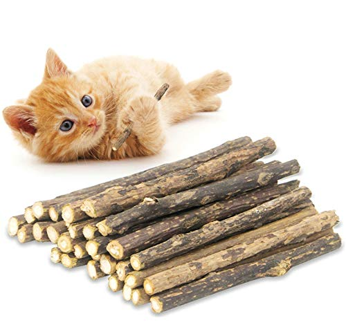 rosyclo 20PCS Cat Chew Silvervine Sticks, Organic for Dental Care Natural Catnip Sticks, Teeth Molar Toys for Kitten Kitty