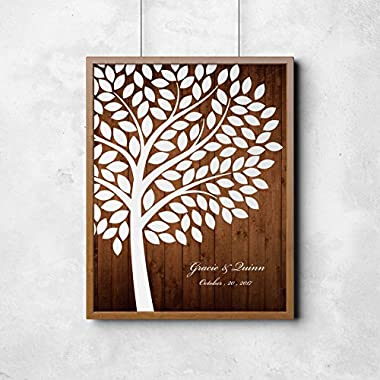 Homokea Wedding Guest Book Tree canvas Sign Tree Guest Boom With Your Sepecial Date