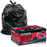Ultrasac Heavy Duty Contractor Bags (Value 50 Pack/w Ties), 42 Gallon, 2'9