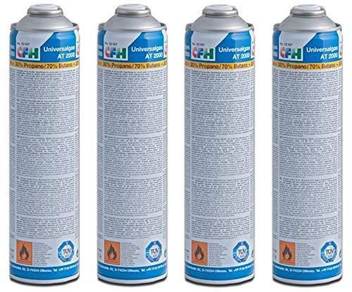 CFH 4 x Universal Gaskartusche für Gas-Unkrautvernichter