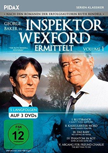 Inspektor Wexford ermittelt, Vol. 1 (The Ruth Rendell Mysteries) / Fünf spannende Langfolgen der legendären Krimiserie nach den Romanen von Ruth Rendell (Pidax Serien-Klassiker) [3 DVDs]