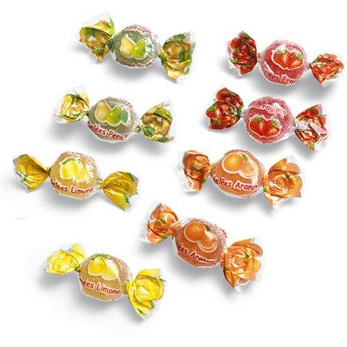 Gelées Morbide alla frutta Sarragioto Kg 1 (120 caramelle) - Gelatine incartate ai gusti assortiti di frutta: limone, arancia, pera e fragola - Senza coloranti artificiali