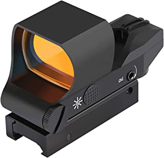 Feyachi RS-30 Reflex Sight, Multiple Reticle System Red Dot Sight with Picatinny Rail Mount, Absolute Co-Witness with Iron Sight