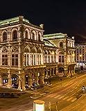 Notebook: Vienna Austria city night lights Austrian Europe European Saltzburg