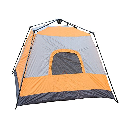 L-YINGZON Camping Tent 5-8 Person Sturdy Camping Tent Four Corner Square Top Automatic Instant Pop Up Backpacking Tent Ultralight Waterproof For Hiking Camping Travel,Sunshade,Mosquito Outdoors