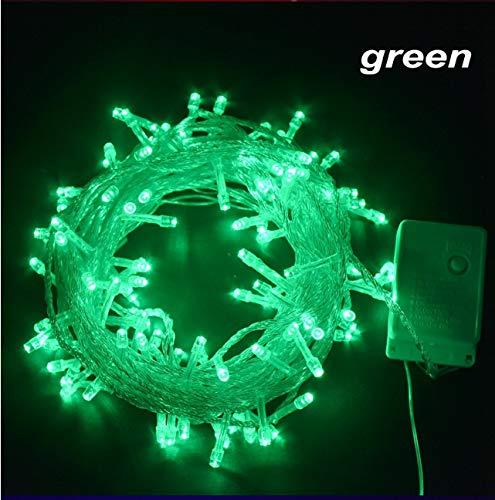LED-slingerkoord van het heldere snoer 10M buiten verlicht creatieve snoerlichten voor bruiloftsdecoratie groen