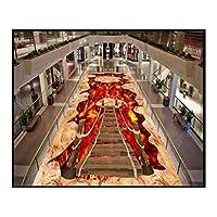 ラグ・カーペット3d立体感動の通路廊下階段カーペット滑り止めエリアラグコーヒーテーブルパッド用リビングルーム寝室6ミリメートル バイザー布~YANYQ (色 : B, サイズ : 100x200cm)