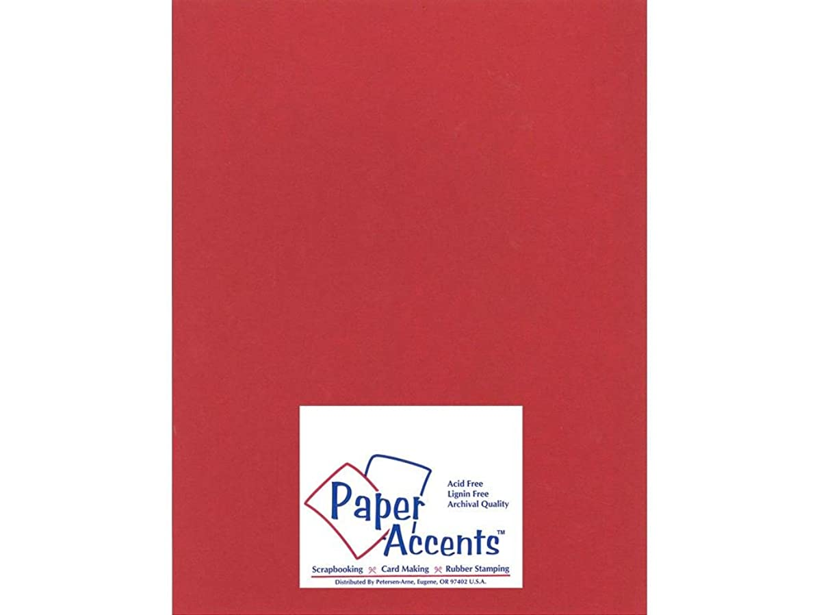 Accent Design Paper Accents Smooth 8.5x11 100# Chinese Red