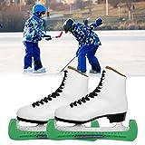 Liujaos Protectores de Patines, Protectores de Patines de Hockey sobre Hielo, Seguros para Deportes de esquí(Dark Green)