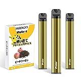 HOOLOO iPrefer 4 電子タバコ 使い捨て 禁煙補助に最適 吸引回数600回/本 3本セット (ピーチウーロン)