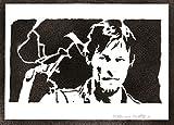 Póster Daryl Dixon The Walking Dead Grafiti Hecho a Mano - Handmade Street Art - Artwork