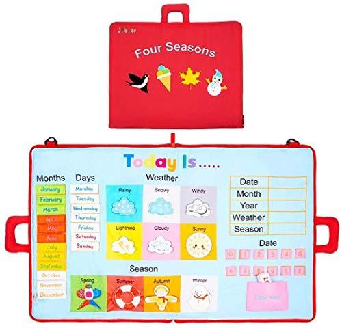 hsj LF- Quiet Buch 3D Nicht verblassende Tuch Buch Eltern-Kind-Kommunikation weichen Tuch Buch Lernen Ausbildung Kinder Weihnachten Lernen (Color : C)