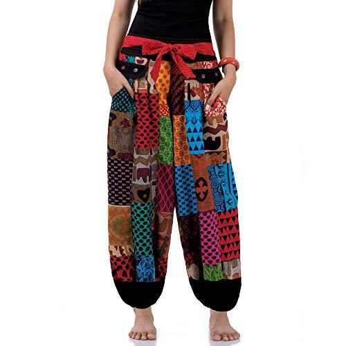 Princess of Asia Hippie Jeans Patchwork Hose Haremshose Aladinhose Pumphose für Damen & Herren