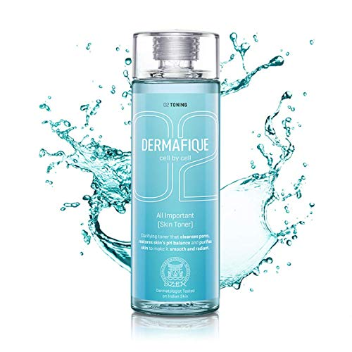 Dermafique All Important Alcohol free Skin Toner for All Skin Types including Oily, Acne Prone, Sensitive & Normal Skin, with...