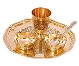 Spiritual World Diwali 2020 Spacial Pooja thali Maa Durga Navratri Pooja Set/Bhog Thali Set | Laxmi Ganesha Pooja/Bhog Thali Set (pequeño - 8'Pulgadas de diámetro Bhog Thali Set)