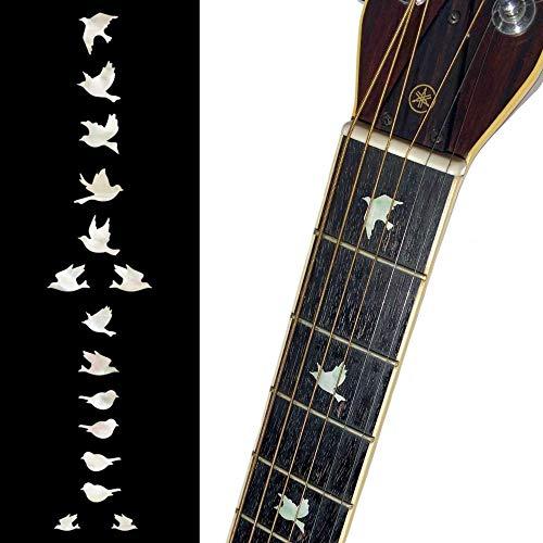 Inlay Sticker Griffbrett Position Marker für Gitarren & Bass Doves,Weiß Perle