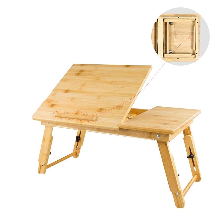 降下固める船尾QFF-コンピュータデスク ラップトップテーブル、リビングルームのベッドルームベッドテーブルそれは折り畳み式の研究家庭のデスク学生の寮の部屋の机を移動することができます 研究テーブル (色 : C)