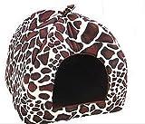 Reeseiy Katzenhöhle / Hundehöhle, klassisch, modisch, Leopardenmuster, faltbar, weich, warm, für...