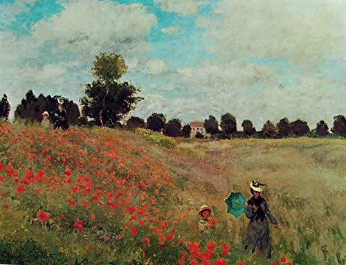 IMPRONTEEDIZIONI Campo di Papaveri di Claude Monet, 68 x 96 cm, Puzzle 2000 Pezzi