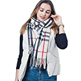 Hold Present Winter Wear Unisex Soft Check Print Cashmere Scarf/Stole. (1 Pcs) (Beige)
