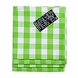 Homescapes Servietten 4er Set, karierte Stoffservietten 45 x 45 cm, 100% Baumwolle, grün-weiß