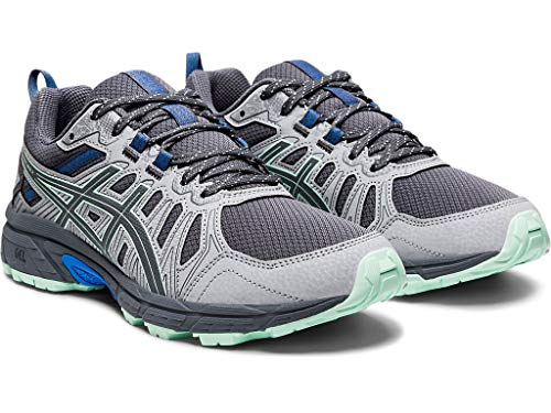 ASICS Women's Gel-Venture 7 Trail Running Shoes, 8.5M, Sheet Rock/ICE Mint