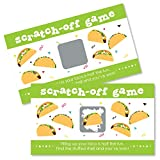 Big Dot of Happiness Taco 'Bout Fun - Mexican Fiesta Game Scratch Off Cards - 22 Count