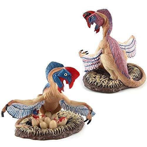 JXMODEL Modelo de Dinosaurio,Mundo de Dinosaurios Archaeopteryx y Oviraptor,Juguetes para Niños y Colección de Decoradores B