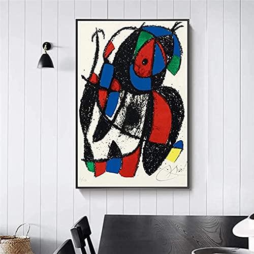 Wflwlhh Póster de pared Giclée Litografía, lienzo y estampado, arte surrealismo, lienzo en la pared, cuadro abstracto para la habitación de los niños, sala de estar, (40 x 60 cm), sin marco