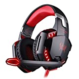 BENGOO Gaming Headset Comfortable 3.5mm Stereo Over-Ear Headphone Headband with LED Lighting for PC Computer Game with Noise Isolation & Volume Control