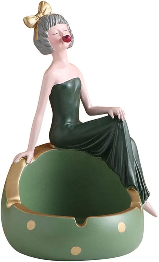 Ashtrays Resin Ashtray Long Skirt Today's only Windproof Free shipping anywhere in the nation Ash Tray Large Girl
