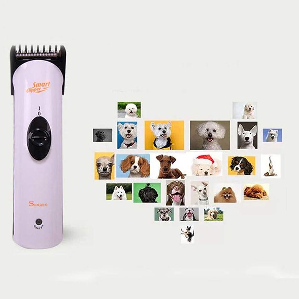毎週半ばスキャンダラス充電式低ノイズペットグルーミングセット電動プロフェッショナル動物猫犬のヘアトリマークリッパーシェーバー