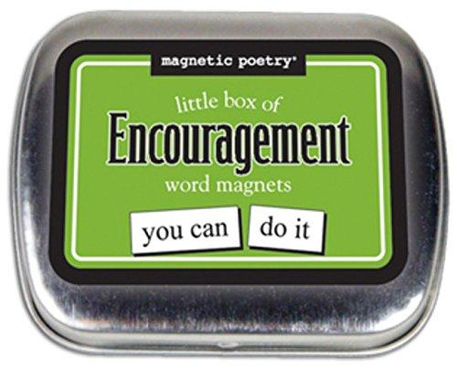 Magnetische poëzie: kleine doos van aanmoediging